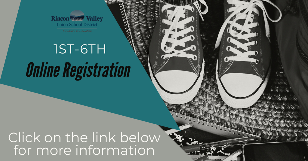 1st-6th Online Registration