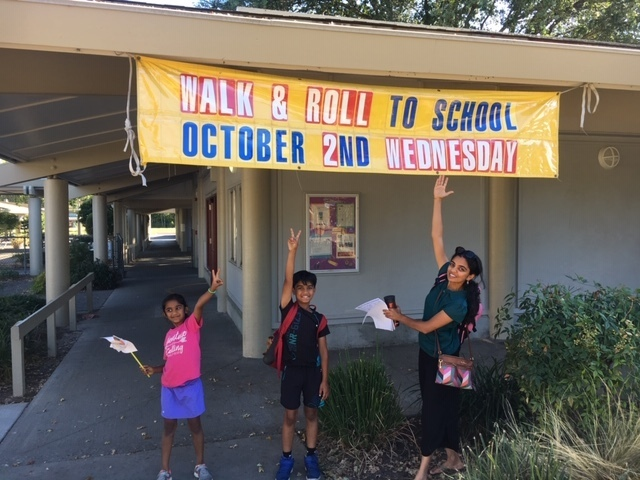 Join  a Walking Bus on Walk and Roll to School Day!