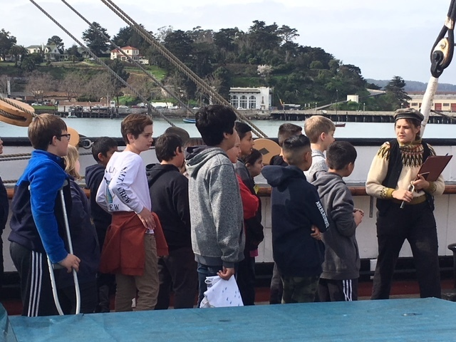 Students receiving their ship instructions.